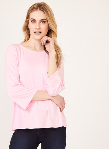 Long Sleeve Jersey Top, Pink, hi-res
