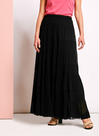 Tiered Maxi Peasant Skirt , , hi-res