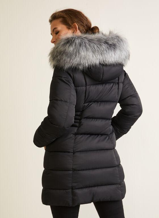 Manteau en duvet végane matelassé, Noir
