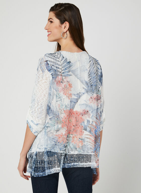 M Made in Italy - Floral Print Top, Blue, hi-res