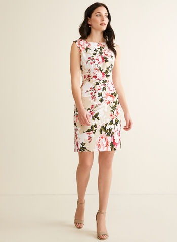 Tiered Floral Print Dress, Pink,  spring summer 2020, rose print, sleeveless, tiered skirt
