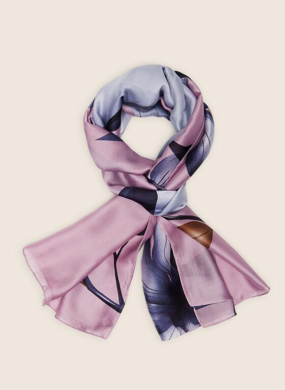 Floral Lightweight Scarf, Purple