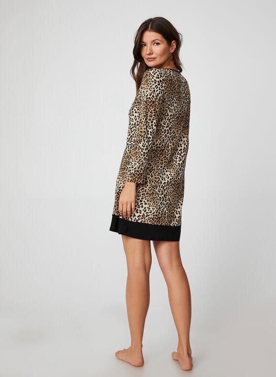 Leopard Print Nightgown, Brown