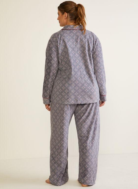 Pyjama à motif en micropolaire, Gris