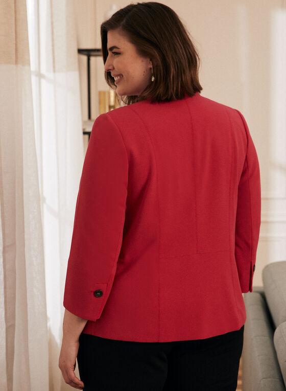 Open Front 3/4 Sleeve Blazer, Pink