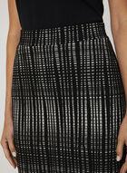 Geo Print Straight Skirt, Black, hi-res