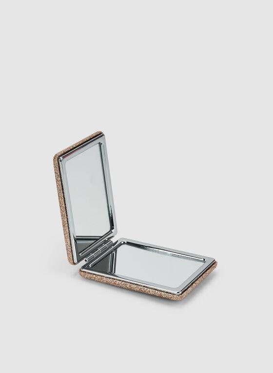 Glitter Compact Mirror, Gold