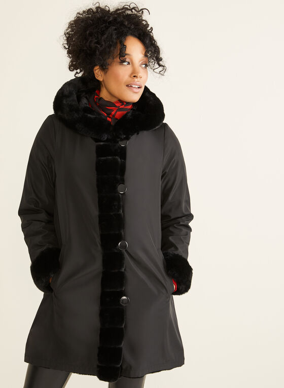 Nuage - Reversible Faux Fur Coat, Black