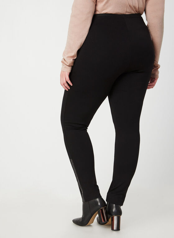 Beaded Leggings, Black