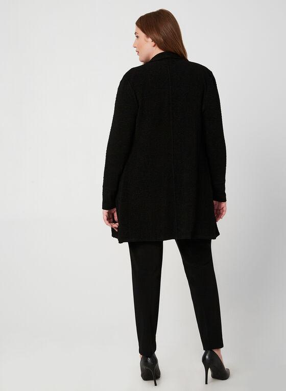 Joseph Ribkoff - Veste longue texturée, Noir, hi-res
