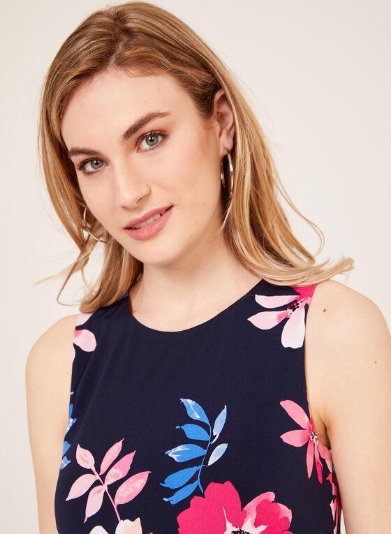 Jessica Howard - Floral Print A-Line Dress, Blue, hi-res