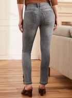 Embroidered Detail Slim Leg Jeans, Blue