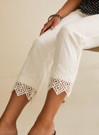 Pantalon coupe cité à ourlet en crochet, Blanc cassé