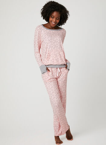 Pillow Talk - Cat Print Pyjama Set , Multi, hi-res
