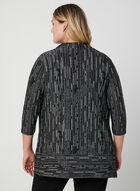 Jacquard Knit Open Front Top, Black, hi-res