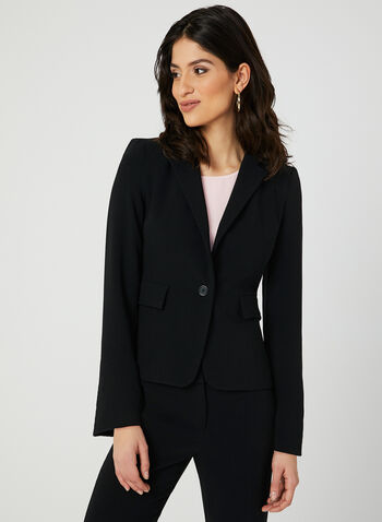 Louben - Notch Collar Blazer, Black,