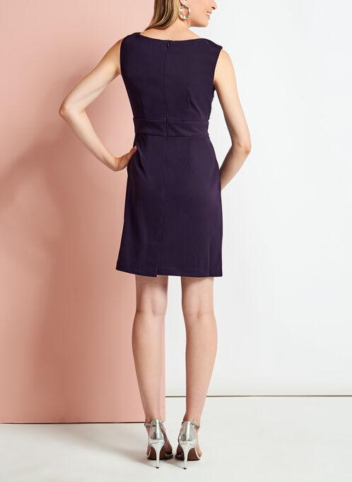 Sequin Lace Bodice Tiered Dress, Purple, hi-res