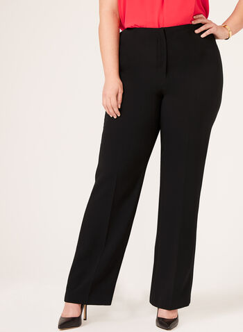 Louben - Signature Fit Straight Leg Pants, Black, hi-res