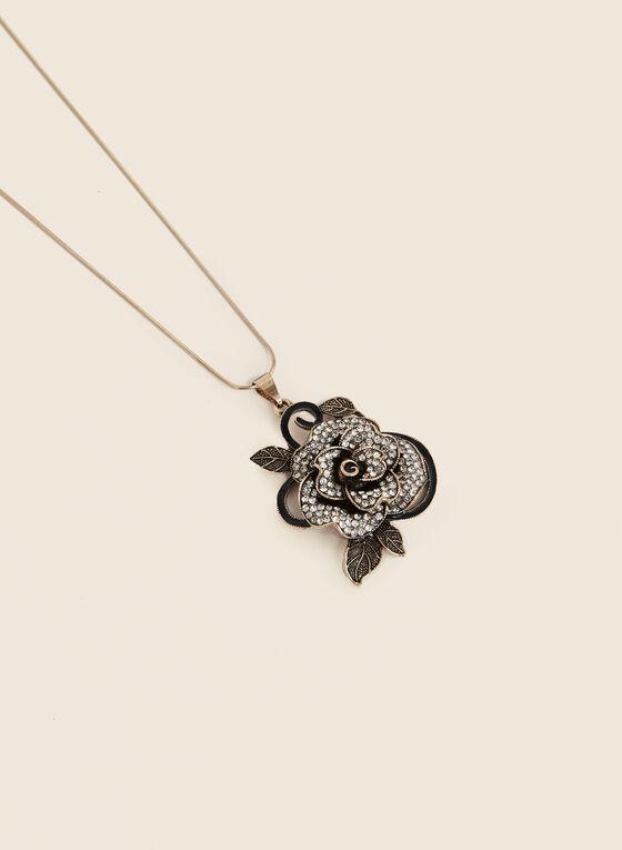 Floral Pendant Necklace, Gold