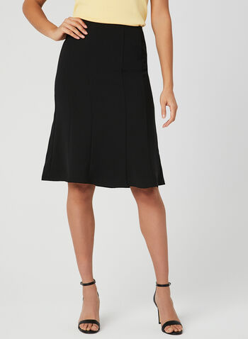 Gored Skirt, Black, hi-res