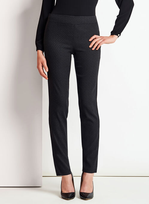 City Fit Pull-On Slim Leg Pants, Black, hi-res