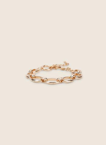Bracelet à gros maillons, Or,  bracelet, métal, maillons, printemps été 2020