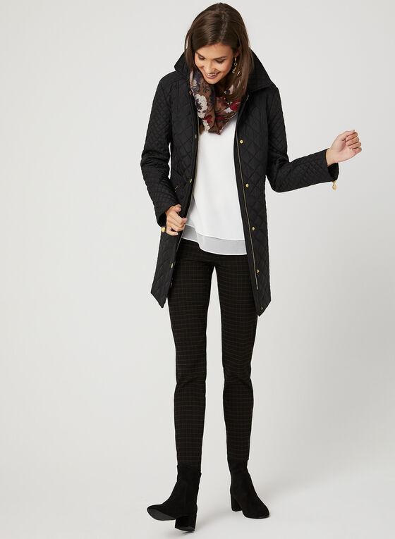 Anne Klein – Quilted Transition Coat, Black, hi-res