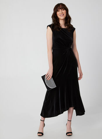 Long Velvet Dress, Black,  velvet dress, dress, long dress, velvet, sleeveless dress, Holiday, fall 2019, winter 2019