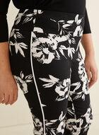 Floral Print Capris, Black
