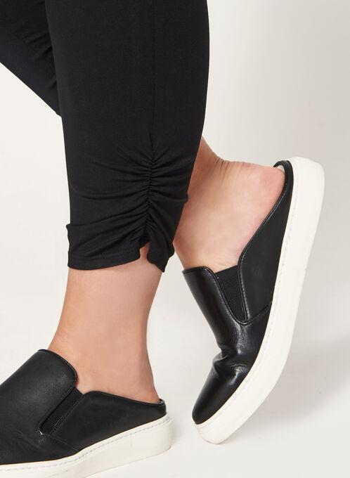 Legging douceur froncé aux chevilles, Noir, hi-res