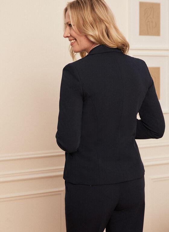 Louben - Three Button Notch Collar Jacket, Blue