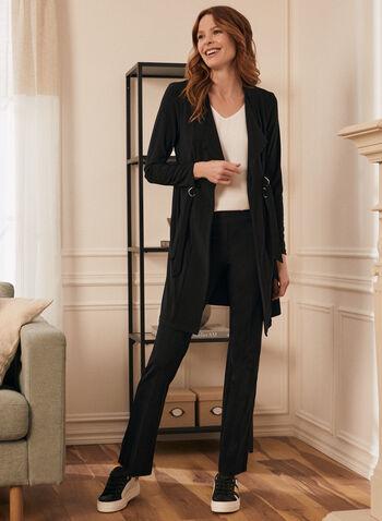 Pantalon pull-on à jambe droite, Noir,  pantalon, pull-on, droit, pinces, automne hiver 2020