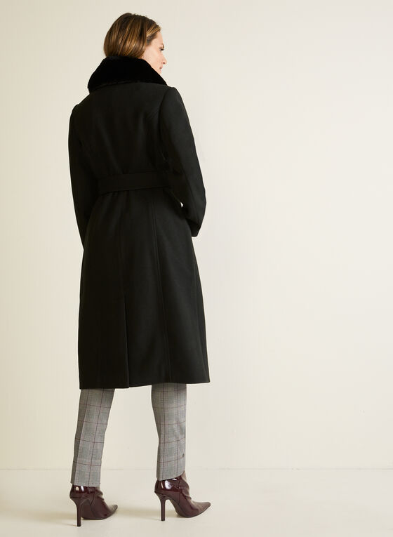Long Stretch Trench Coat, Black