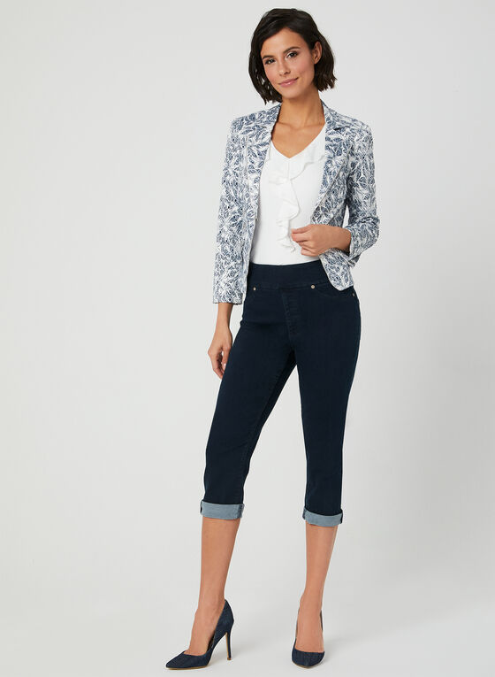 Carreli - Capri en jean à taille pull-on, Bleu, hi-res