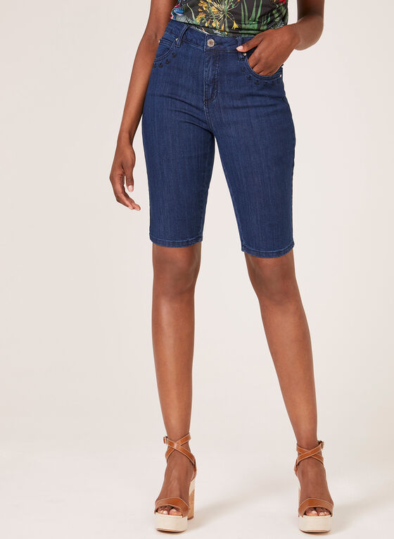 Simon Chang - Signature Fit Denim Shorts, Blue, hi-res
