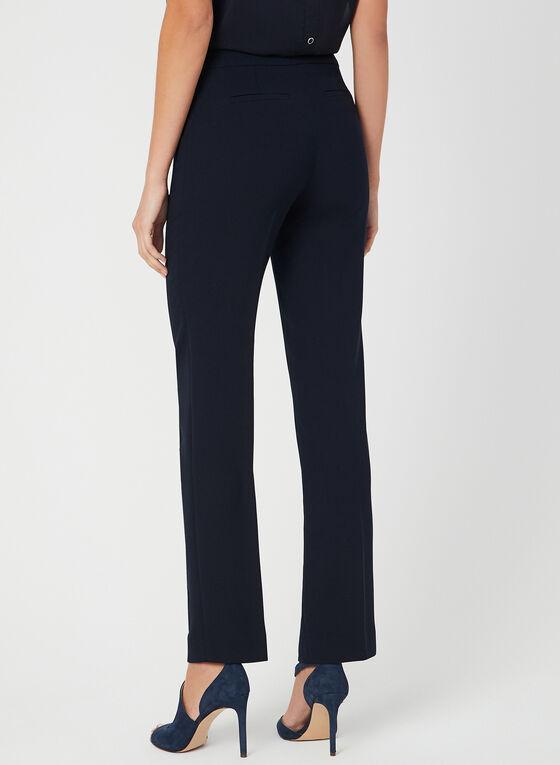 Pantalon style marin à jambe droite, Bleu, hi-res