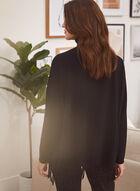 Fringed Turtleneck Sweater, Black