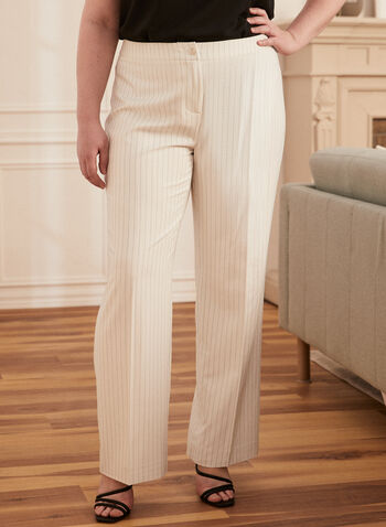 Stripe Print Wide Leg Pants, White,  pants, stripe print, wide peg, pleats, modern fit, spring summer 2020
