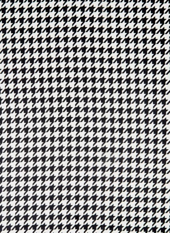 Houndstooth Print Scarf, Black, hi-res