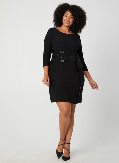 3/4 Sleeve Sequin Dress