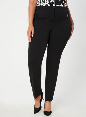 City Fit Straight Leg Pants, Black,  dress pants