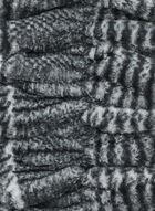 Foulard plissé en fausse fourrure, Noir