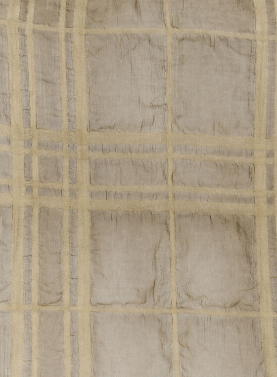 Foulard léger à carreaux, Blanc cassé, hi-res