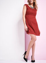 Extended Shoulder Lace Dress, , hi-res