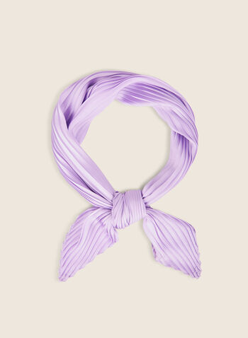 Foulard carré effet plissé, Violet,  foulard, carré, effet plissé, printemps été 2020