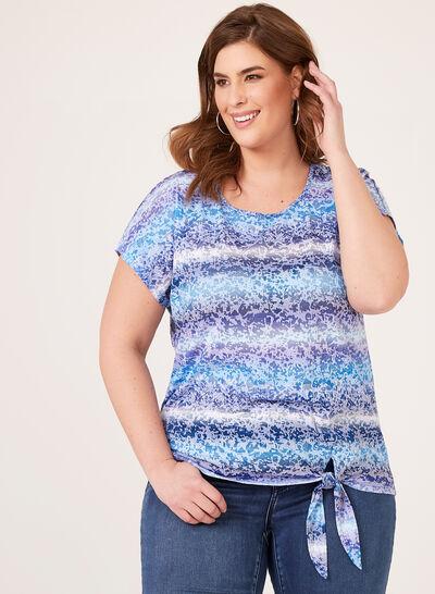 T-shirt délavé et détail nœud