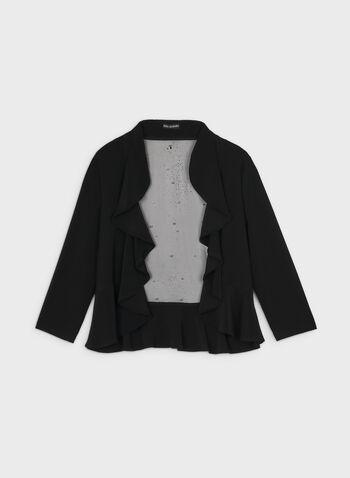 Nina Leonard – Pearl Detail Bolero, Black,  bolero