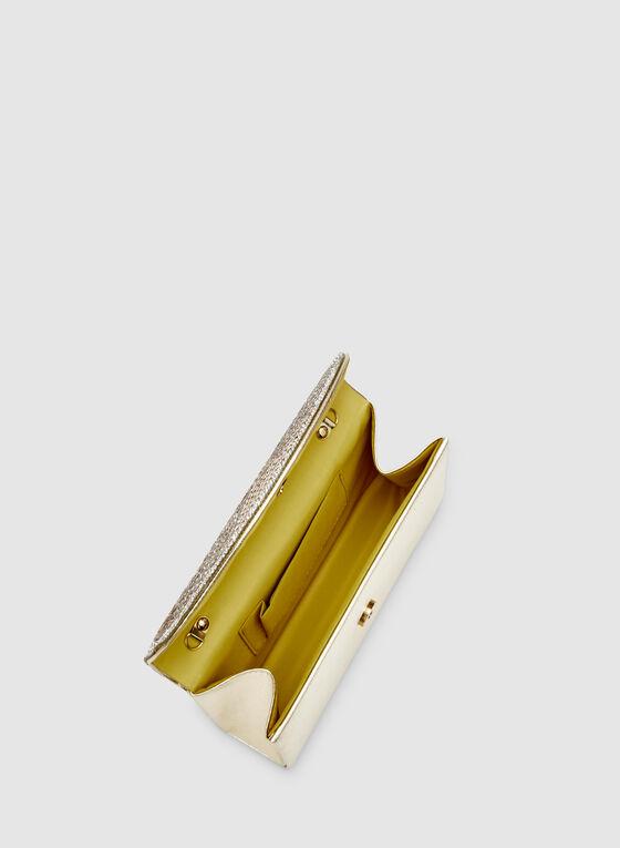 Crystal Baguette Clutch, Gold