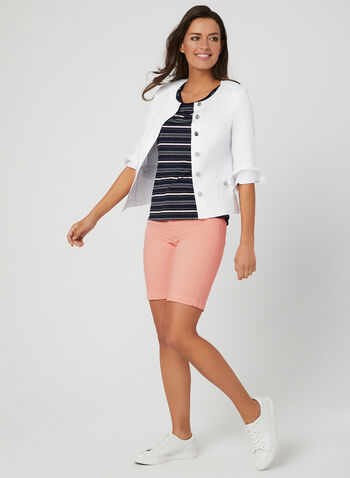 Alison Sheri - Bermuda Shorts, Orange, hi-res,