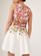 Floral Print Fit & Flare Dress, Pink, hi-res